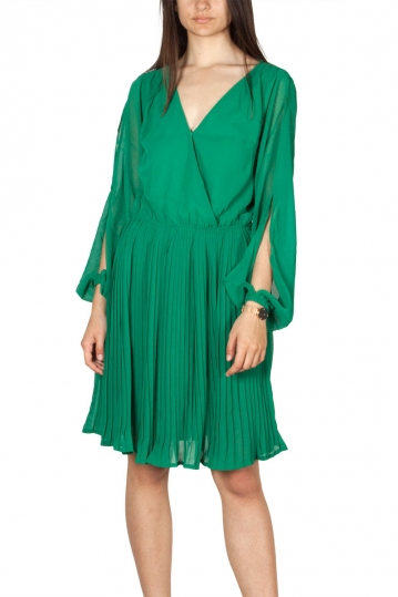 Rut and Circle wrap pleat dress green
