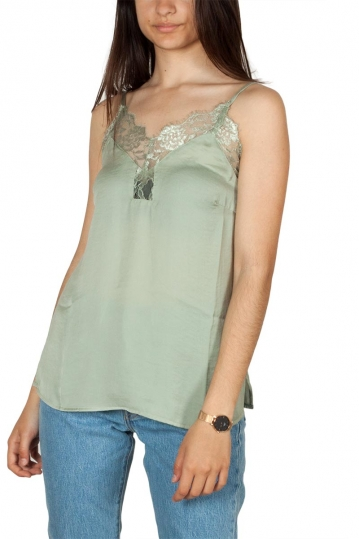 Rut & Circle Lycke lace neck cami top green mist