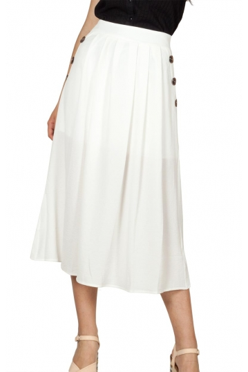 Rut and Circle midi skirt white