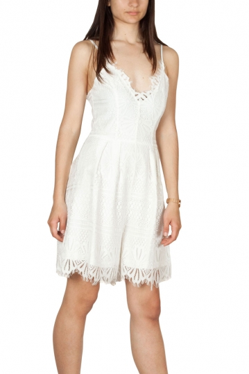 Rut and Circle lace playsuit white