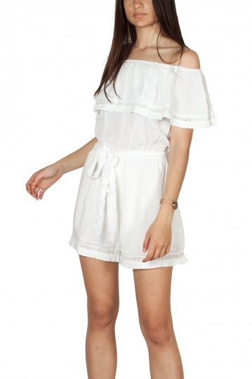 Rut and Circle Singoalla playsuit white