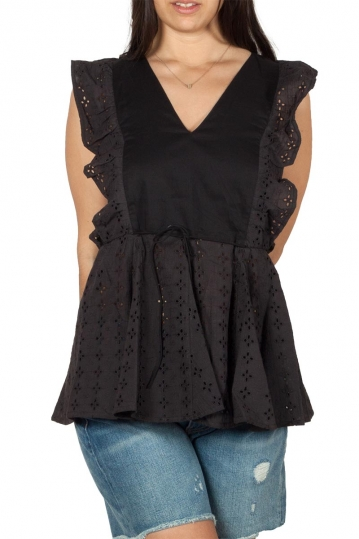 Rut and Circle frill blouse black