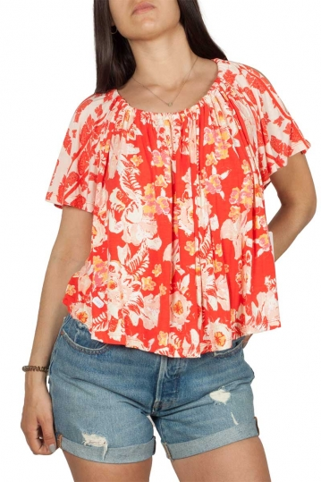 Free People Baja Bebe flowy top floral