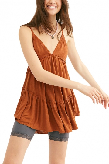 Free People Bella Donna tunic copper