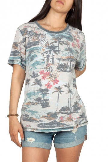 Free People Tourist t-shirt tropical print