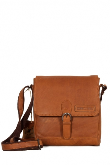 Hill Burry men's cross body leather bag brown