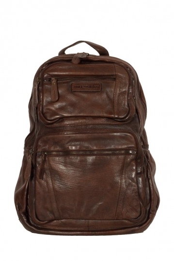 Hill Burry δερμάτινο backpack σκούρο καφέ