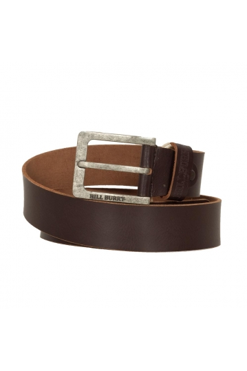 Hill Burry men's leather belt waxy dark brown