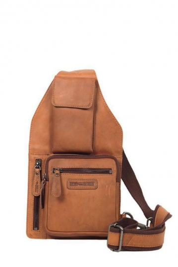 Hill Burry cross body leather bag with outer phone case