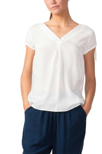 Skunkfunk Dunixe short sleeve blouse white