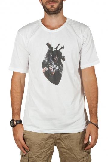 Emanuel Navaro heart print t-shirt white