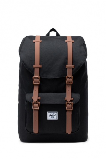 Herschel Supply Co. Little America mid volume backpack black/saddle brown
