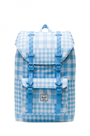 Herschel Supply Co. Little America mid volume backpack gingham alaskan blue/rubber