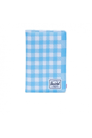 Herschel Supply Co. Search wallet RFID gingham alaskan blue