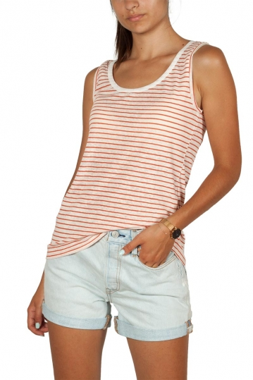 Artlove linen blend tank top terracotta stripes