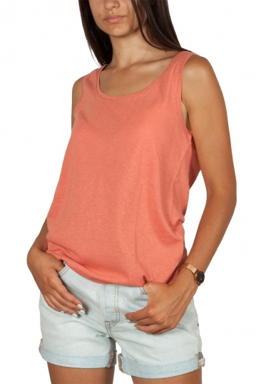 Artlove cotton-linen blend tank top terracotta