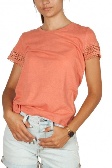 Artlove crochet detail top terracotta