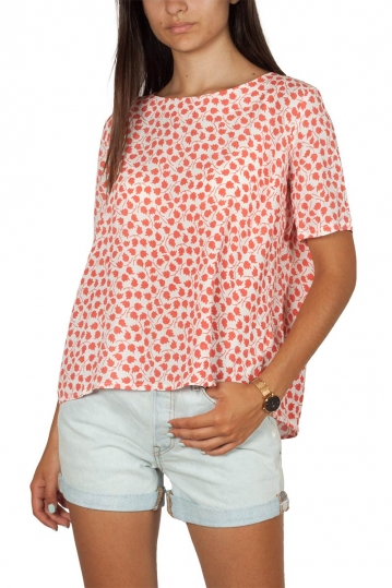Artlove short sleeve viscose top coral
