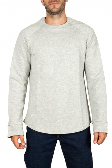 Emanuel Navaro distressed sweatshirt grey melange