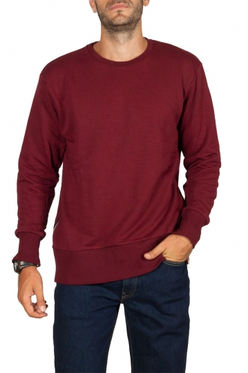 Emanuel Navaro side zipper sweatshirt bordeaux