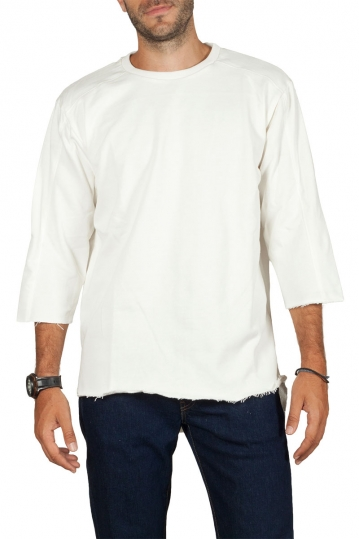 Emanuel Navaro asymmetrical sweatshirt ecru