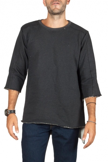 Emanuel Navaro asymmetrical sweatshirt dark grey