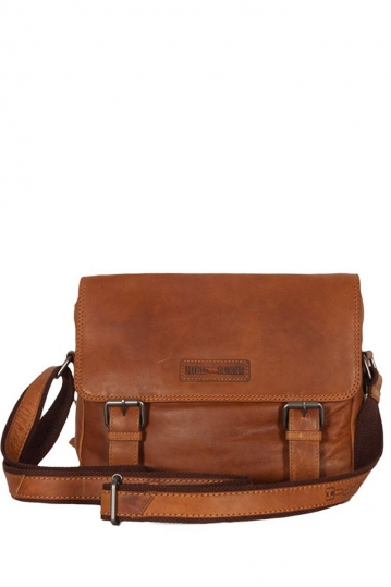 Hill Burry leather small messenger bag brown