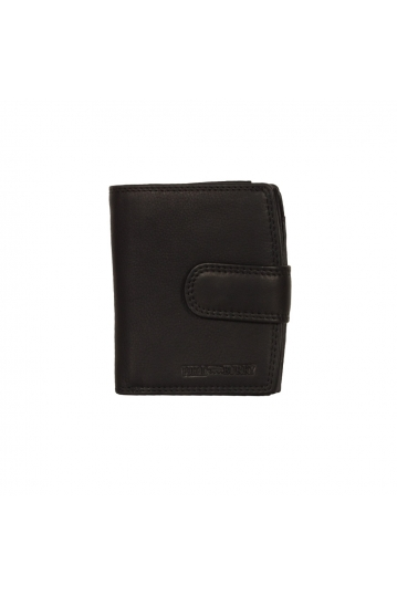 Hill Burry men's leather vertical wallet black