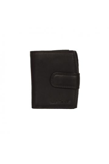 Hill Burry ανδρικό δερμάτινο πορτοφόλι κάθετο μαύρο