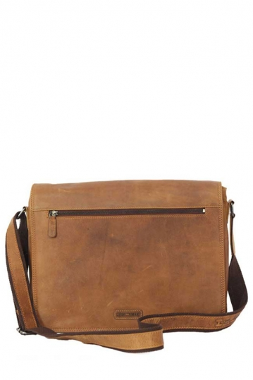 Hill Burry leather messenger bag in cognac