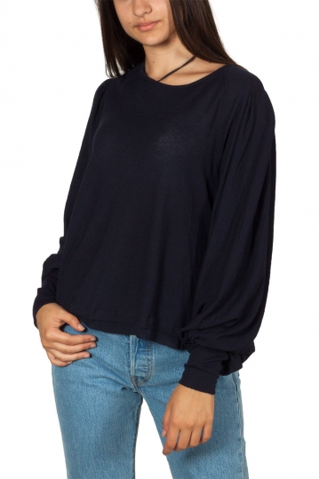 Free People Billie cropped tee indigo ink