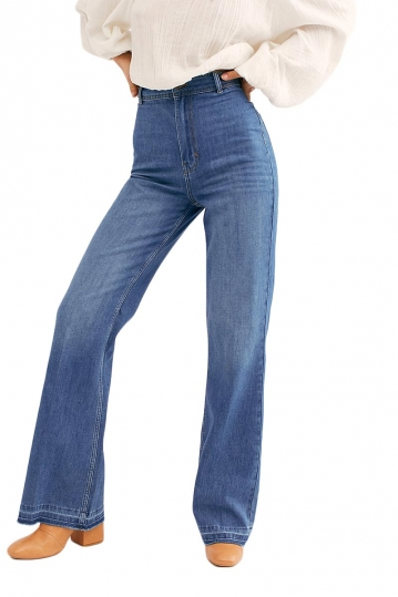 Free People Mindy rigid flare jeans vintage stone blue
