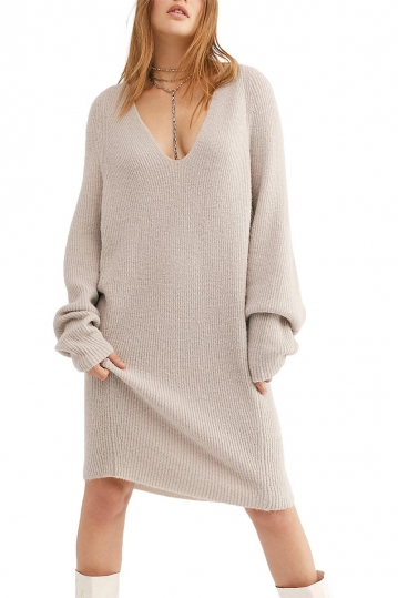 Free People longline tunic sky grey