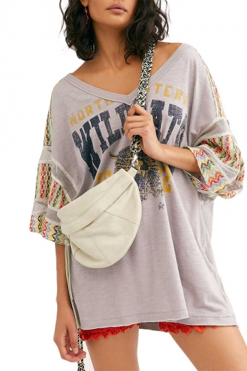 Free People Casbah oversized μπλούζα