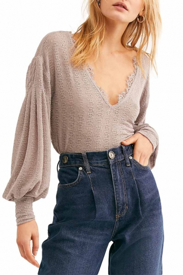 Free People Dream Girl pointelle knit top