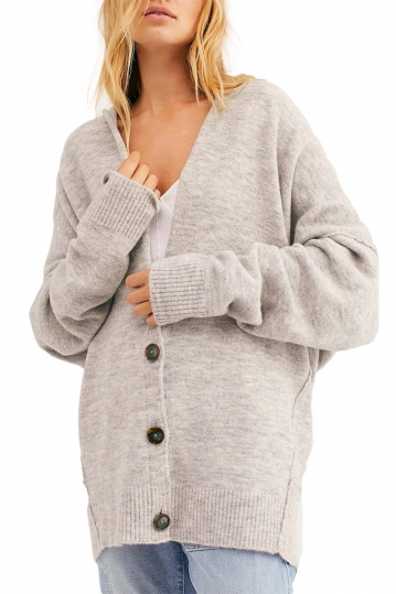 Free People Eucalyptus cardigan heather grey