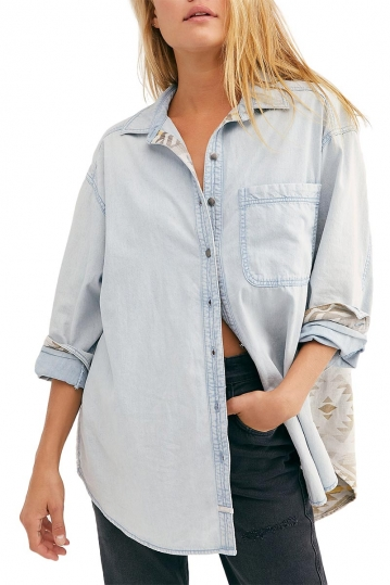 Free People Echo rock chambray shirt
