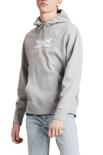 Levi's® 90's logo graphic hoodie heather grey