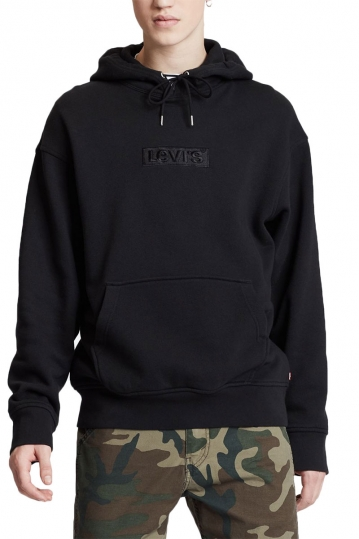 Levi's® relaxed graphic hoodie black
