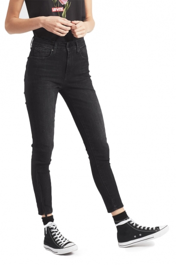Levi's® 721™ high-waisted fringe ankle jeans black