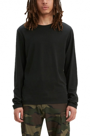 Levi's® Long sleeve slim fit crew neck tee black