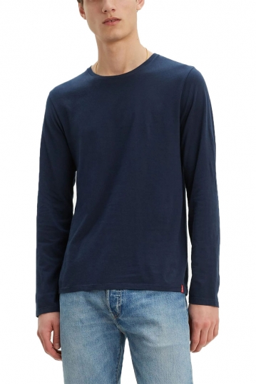Levi's® Long sleeve slim fit crew neck tee blue