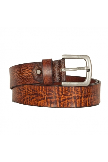 Men's leather belt brown