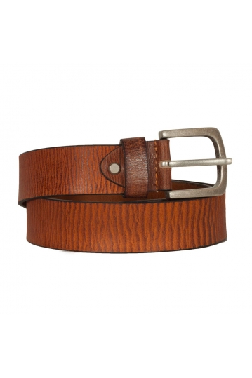 Men's leather belt tan
