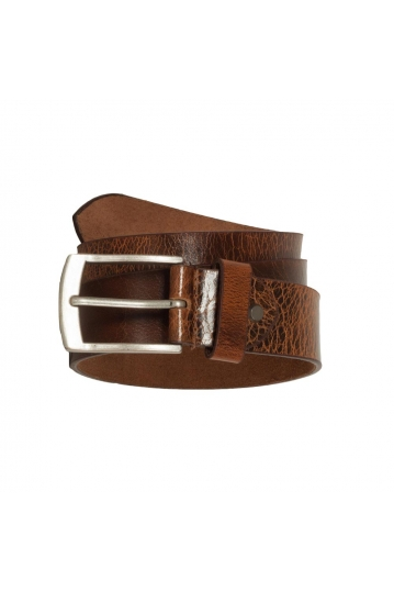 Men's leather belt vintage tan