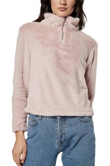Rut & Circle Alex fur sweater pink