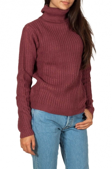 Rut & Circle Tinelle roll neck knit sweater old rose