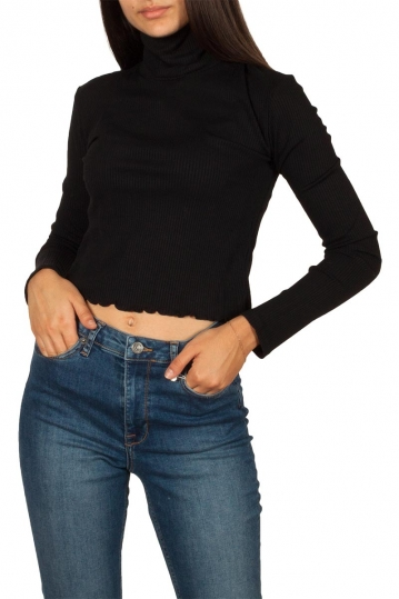 Thinking Mu Ellen rib turtleneck top