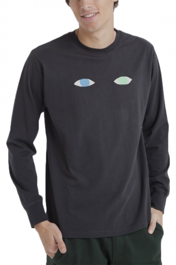 Thinking Mu Wolf Eyes organic cotton long sleeve tee