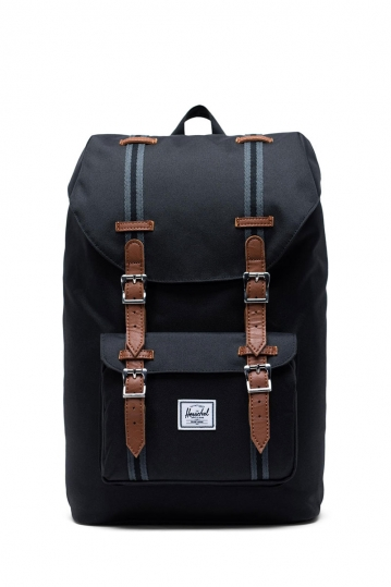 Herschel Supply Co. Little America mid volume backpack black/black/tan
